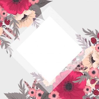 Granica ładny kwiat