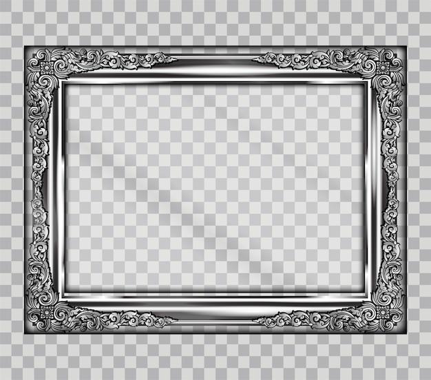 Granica sztuki z metalową ramką na przezroczystości