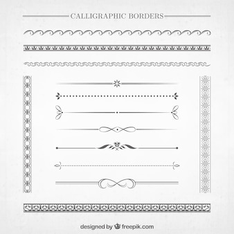 Granice kaligraficzne kolekcja