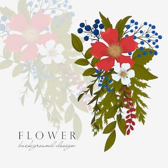 Granice stron fower - czerwony kwiat