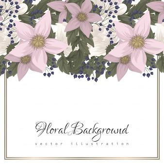 Granice z różowymi kwiatami