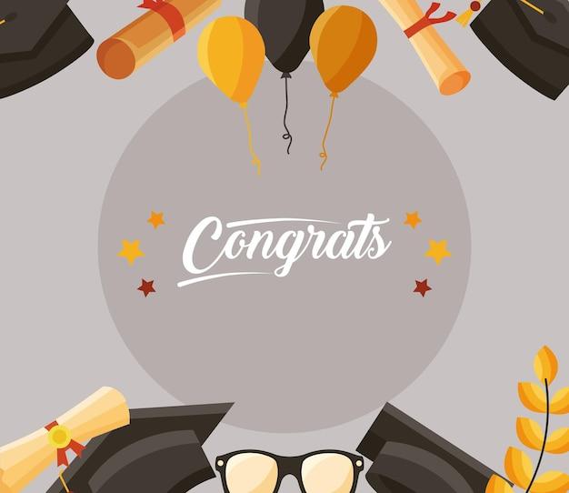 Gratulacje dla absolwentów ramki
