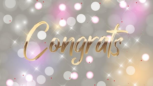 Gratulacje napis