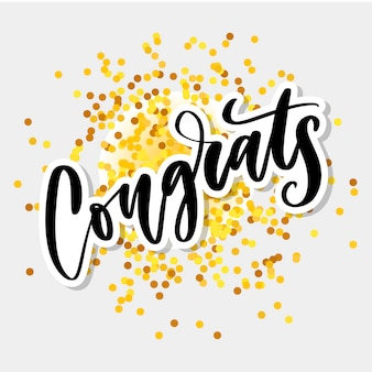 Gratulacje odręcznie napis gratulacje karty, kartkę z życzeniami, zaproszenie i druk.