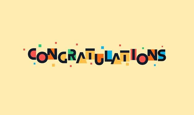 Gratulacje zabawny napis futurystyczna przestrzeń kolorowe listy z życzeniami na urodziny dla dzieci