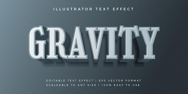 Gravity modern style style font effect