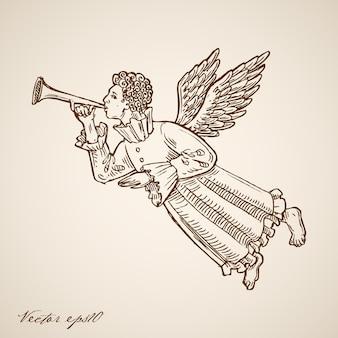 Grawerowane ilustracja boże narodzenie