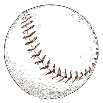 Grawerowanie ilustracja piłki baseballowej