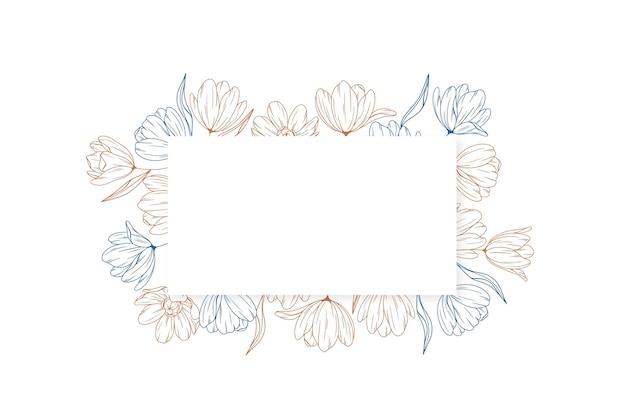 Grawerowanie kwiatowy baner tła