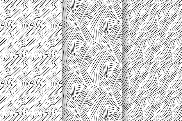Grawerowanie ręcznie rysowane kolekcji wzorów