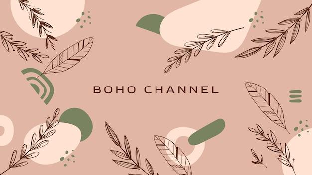 Grawerowanie ręcznie rysowane szablon sztuki kanału boho na youtube
