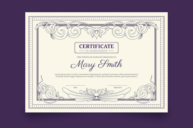 Grawerowanie szablonu certyfikatu ozdobnych