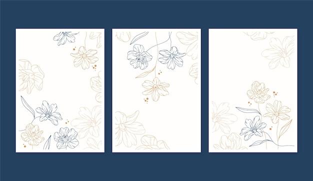Grawerowanie szablonu kartek z kwiatami