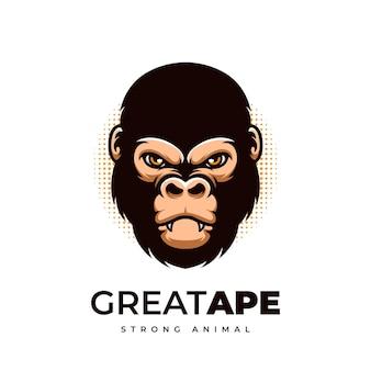 Great ape kreatywne projektowanie logo kreskówek małpa szympans