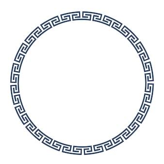 Grecka okrągła rama do projektowania
