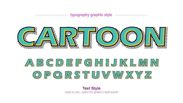 Green bold stroke cartoon comics typography