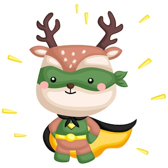 Green deer superhero