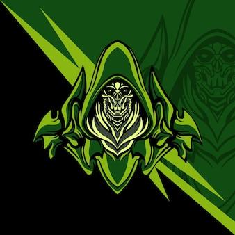 Green mechanical squad do gier z logo maskotek lub innych