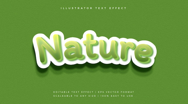 Green nature playful text style font effect