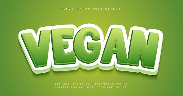 Green vegan playful text style font effect