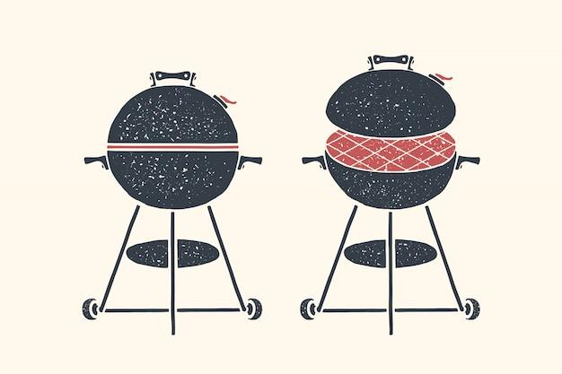 Grill, grill. plakat grill, grill, narzędzia do grilla