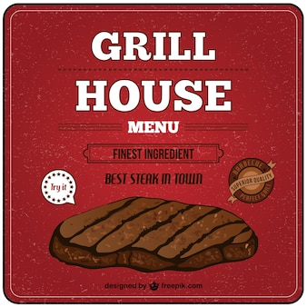Grill house vector