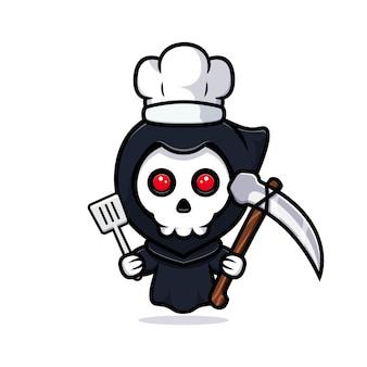 Grim reaper chef. uroczy