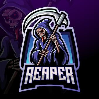Grim reaper esport logo maskotka