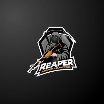 Grim reaper logo esports logo