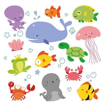 Gromadzenia Zwierząt Sealife Darmowych Wektorów