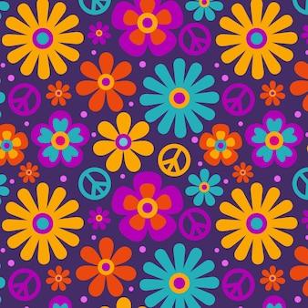 Groovy kwiatowy wzór