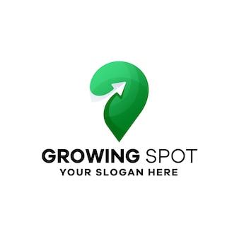 Growing spot gradient logo szablon