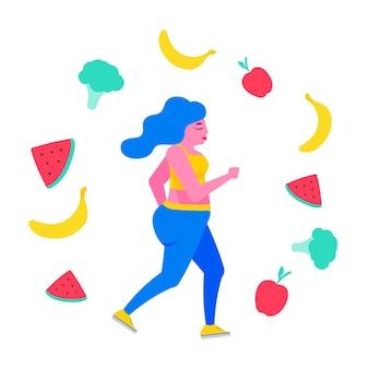 Gruba kobieta na diecie