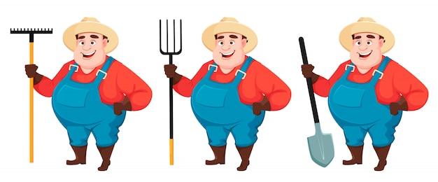 Gruby rolnik, agronom