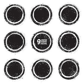 Grunge abstrakcyjne odznaki teksturowane wektor zestaw