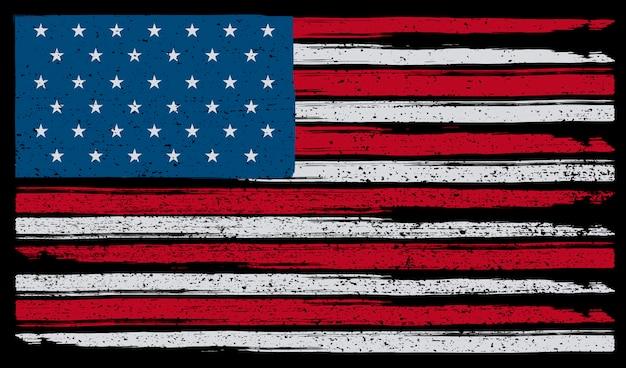 Grunge amerykańską flagę