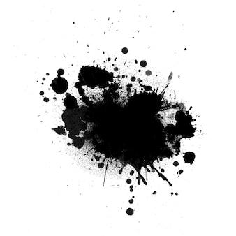 Grunge atramentu splat tło