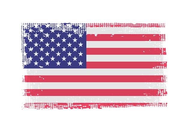 Grunge brudna flaga usa