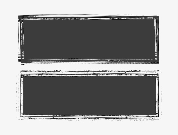 Grunge czarne banery lub ramki