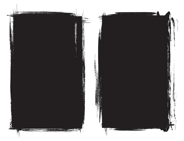 Grunge czarne ramki