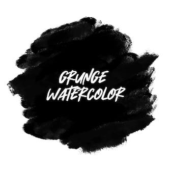 Grunge czarny transparent akwarela