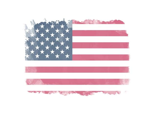 Grunge flaga amerykańska