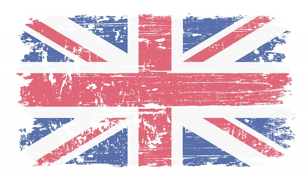 Grunge flaga zjednoczonej kongdomu