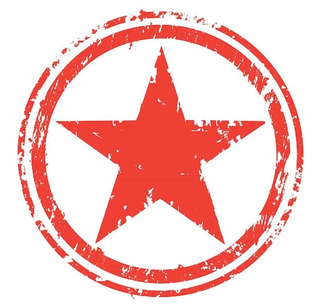 Grunge gwiazda z okręgiem odizolowywającym