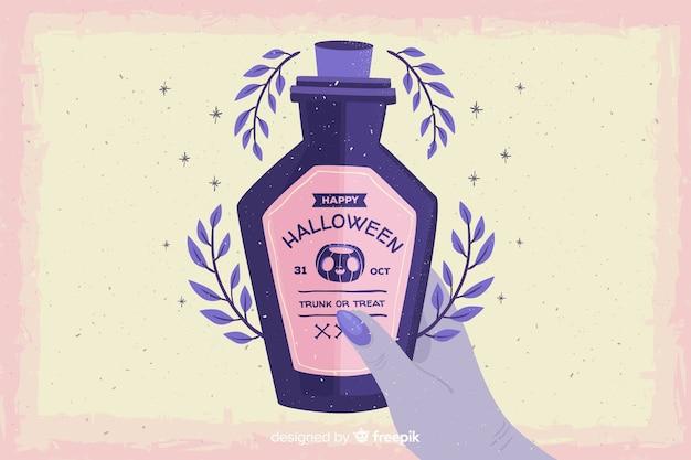Grunge halloween tło z trucizną