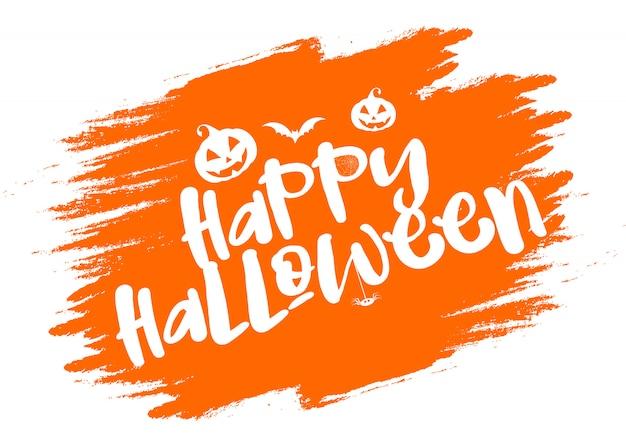 Grunge halloween typografii tło