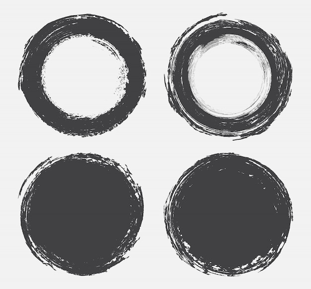 Grunge okrągłe kształty