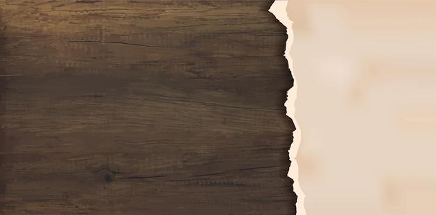Grunge papier na drewnianej ścianie