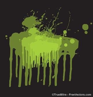 Grunge plamy zielone malowanie