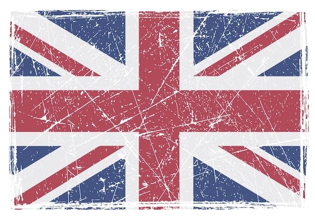 Grunge porysowany flaga brytyjska